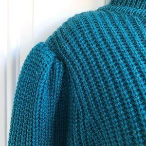 GAP Sweaters - Vintage 80s Gap Puff Sleeve Turtleneck Sweater EUC